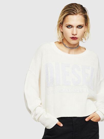 Diesel - M-LUREXY, White - Knitwear - Image 1