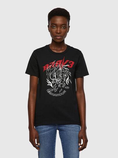 Diesel - T-SILY-B2, Black - T-Shirts - Image 1