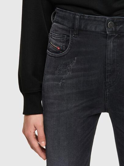 Diesel - Slandy High 069SB, Black/Dark grey - Jeans - Image 3