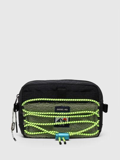 Diesel - ROEDER, Black/Green - Crossbody Bags - Image 1