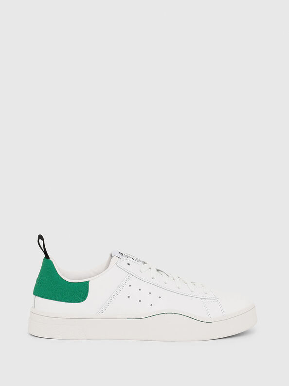 S-CLEVER LOW, White/Green - Sneakers