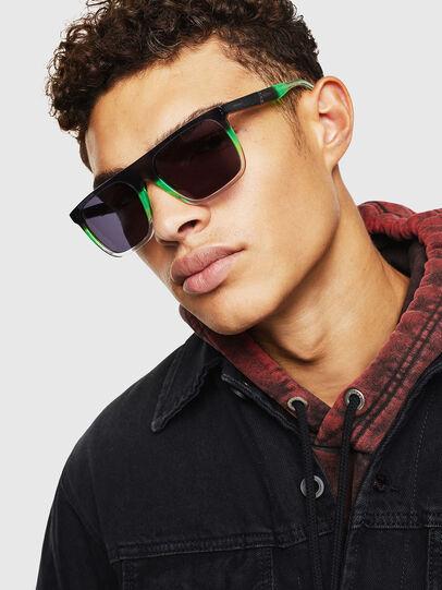 Diesel - DL0299, Black/Green - Sunglasses - Image 5