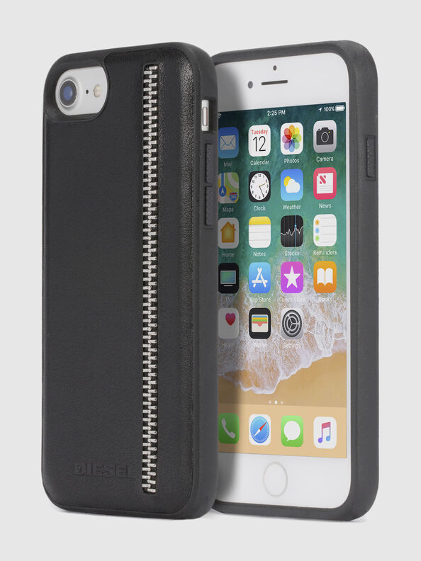 ZIP BLACK LEATHER IPHONE 8/7/6s/6 CASE,  - Cases