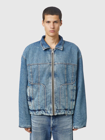 Diesel - DE-FUBY-SP, Medium blue - Winter Jackets - Image 9