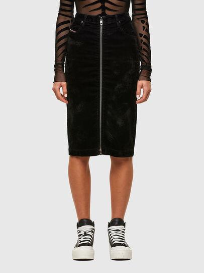 Diesel - D-ELBEE-SP JOGGJEANS, Black - Skirts - Image 1