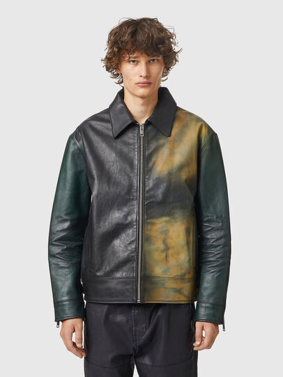 Diesel - L-COOPER-NEW, Black - Leather jackets - Image 1