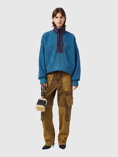 Diesel - F-CROPTED, Blue - Sweaters - Image 4
