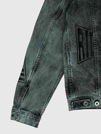Diesel - US-NHILL-POP2, Black/Dark grey - Denim Jackets - Image 4