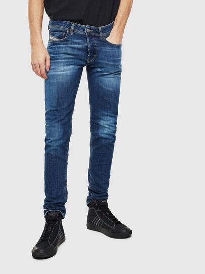 Diesel - Sleenker 0097T, Dark Blue - Jeans - Image 1