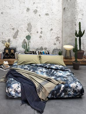 72080 DARK FIELD, Blue - Duvet Cover Set