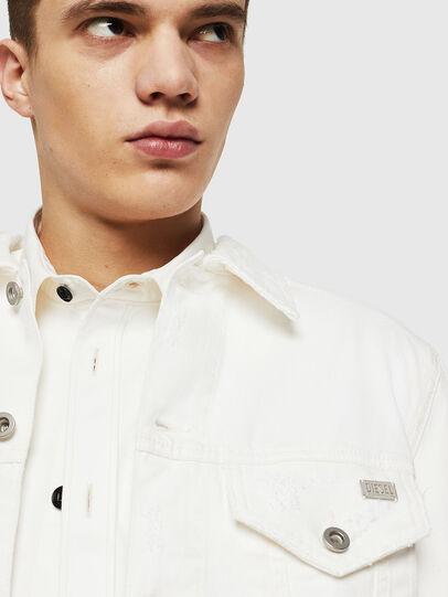 Diesel - D-BRAY, White - Denim Jackets - Image 3