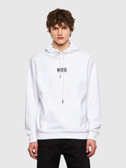 Diesel - S-GIRK-HOOD-SMALLOGO, White - Sweaters - Image 1