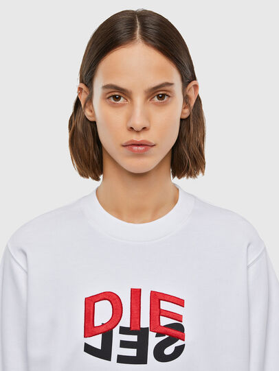 Diesel - F-ANG-V41, White - Sweaters - Image 3