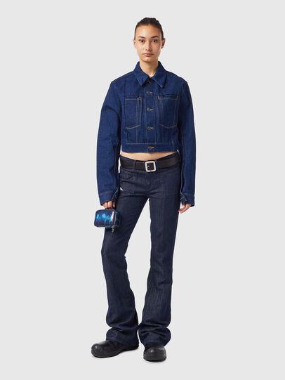 Diesel - DE-LUCYSHORT-SP, Blue - Denim Jackets - Image 4