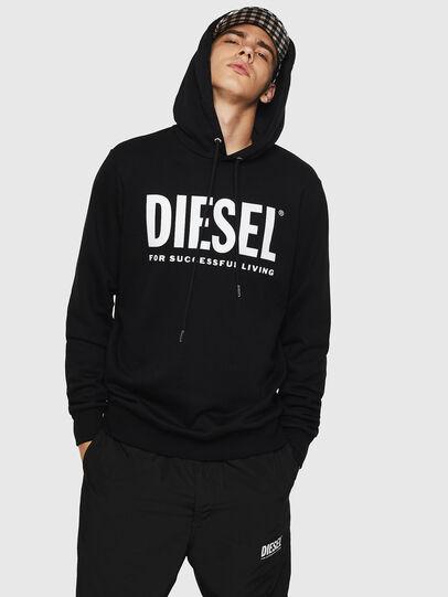 Diesel - S-GIR-HOOD-DIVISION-, Black - Sweaters - Image 1