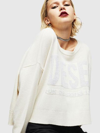 Diesel - M-LUREXY, White - Knitwear - Image 5