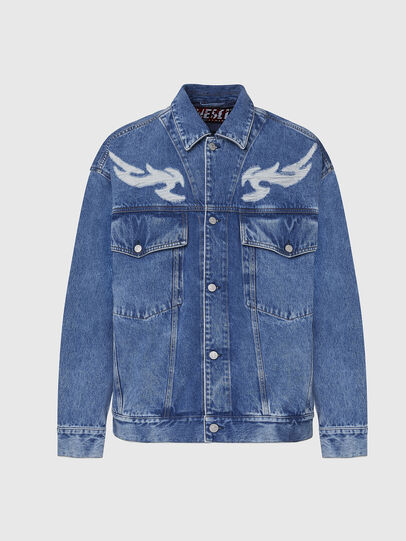 Diesel - D-RAF, Medium blue - Denim Jackets - Image 1