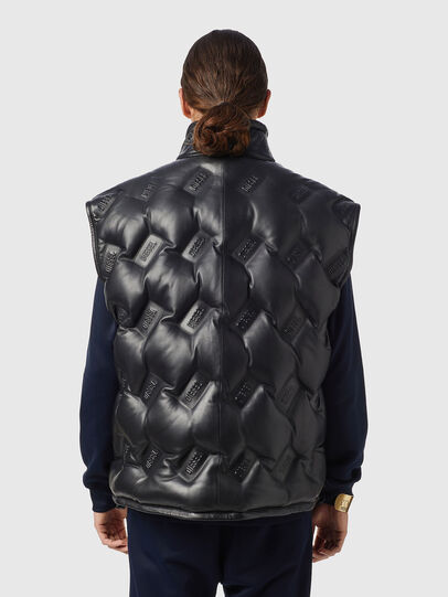 Diesel - L-KUR-THERMO, Black - Leather jackets - Image 2