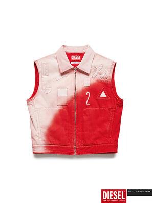 GR02-J303, Red/White - Denim Jackets