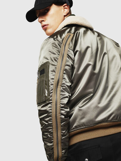 Diesel - W-FEDOVIK, Military Green - Winter Jackets - Image 7