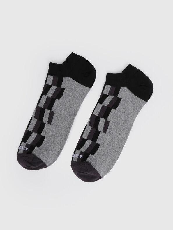 SKM-GOST, Gray/Black - Low-cut socks