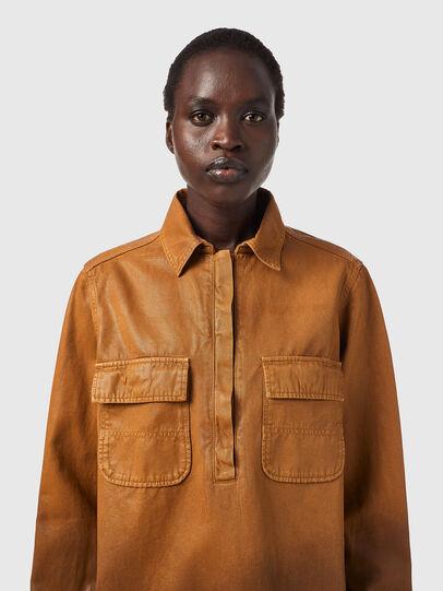 Diesel - DE-EVE-SP, Brown - Denim Shirts - Image 3