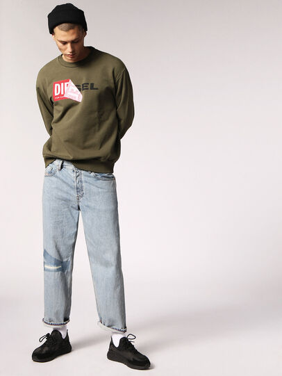 Diesel - S-SAMY, Military Green - Sweaters - Image 4