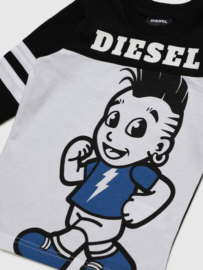 Diesel - TILLYB-R, Black/White - T-shirts and Tops - Image 3