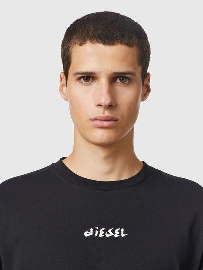 Diesel - T-JUST-LS-SLITS-B53, Black - T-Shirts - Image 3