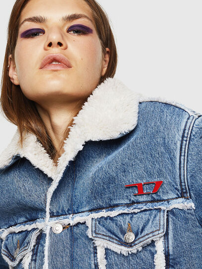 Diesel - DE-SVEA, Light Blue - Winter Jackets - Image 4