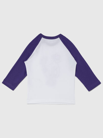 Diesel - TBALYB-FL, White/Violet - T-shirts and Tops - Image 2