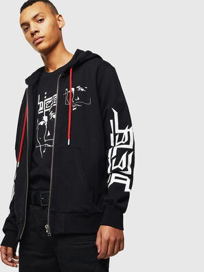 S-GIRK-HOOD-ZIP-1, Black - Sweaters