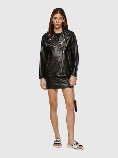 Diesel - L-EDMEA, Black - Leather jackets - Image 6
