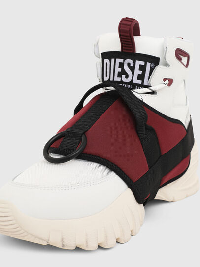 Diesel - S-SHARQUEZ MID, White/Red - Sneakers - Image 6