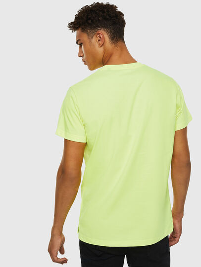 Diesel - T-DIEGO-SLITS-J6, Yellow Fluo - T-Shirts - Image 2