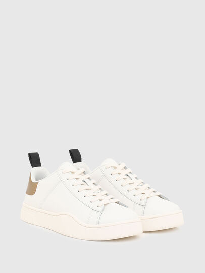 Diesel - S-CLEVER LOW LACE W, White/Bronze - Sneakers - Image 2
