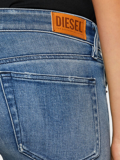 Diesel - Slandy Low 009JI, Light Blue - Jeans - Image 4