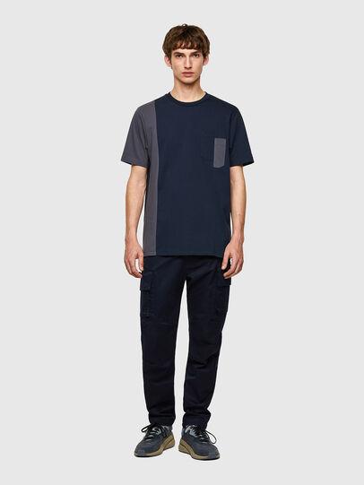 Diesel - T-RISEN-B1, Dark Blue - T-Shirts - Image 4