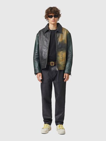 Diesel - L-COOPER-NEW, Black - Leather jackets - Image 4