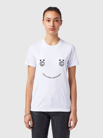 Diesel - T-SILY-B4, White - T-Shirts - Image 1
