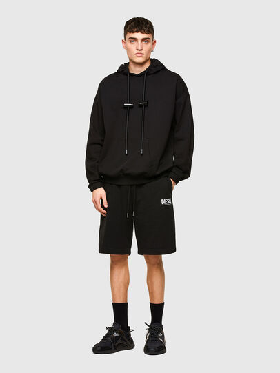 Diesel - P-CROWN-LOGO, Black - Shorts - Image 4