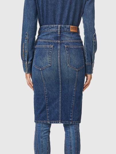 Diesel - DE-PENCIL-ZIP, Medium blue - Skirts - Image 4