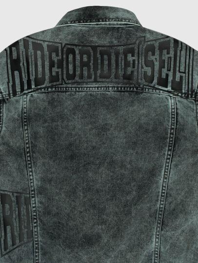 Diesel - US-NHILL-POP2, Black/Dark grey - Denim Jackets - Image 3