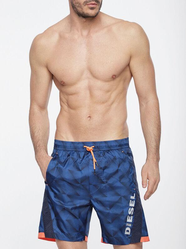BMBX-LONGSPRINT, Blue/Orange - Boardshorts