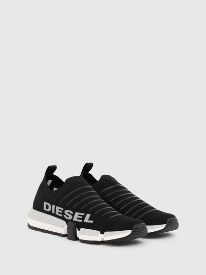 Diesel - H-PADOLA LOW SOCK, Black - Sneakers - Image 2