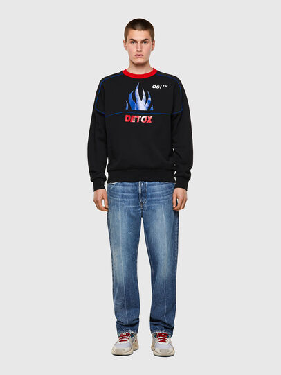 Diesel - S-LAINER, Black - Sweaters - Image 4