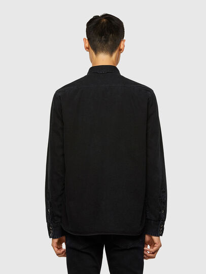 Diesel - D-WEAR-B1, Black - Denim Shirts - Image 2
