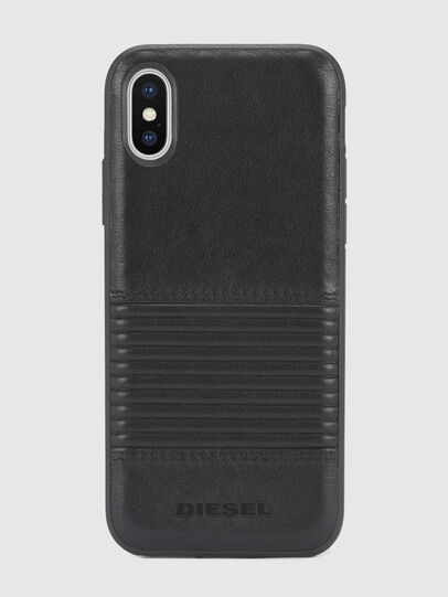 Diesel - BLACK LINED LEATHER IPHONE X CASE,  - Cases - Image 2