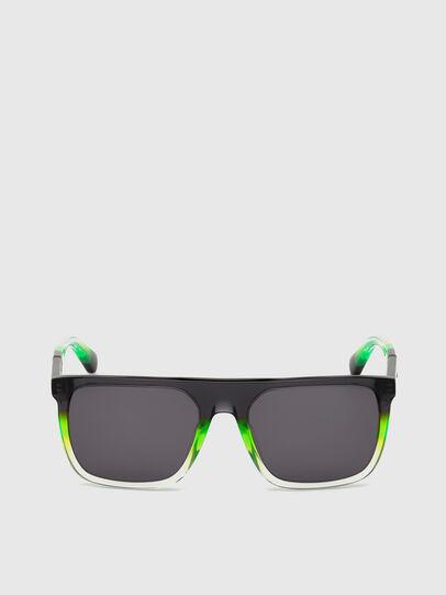 Diesel - DL0299, Black/Green - Sunglasses - Image 1