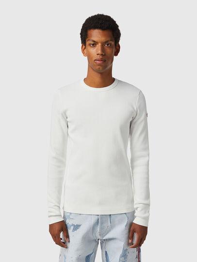 Diesel - D-RIBBER-LS, White - T-Shirts - Image 2